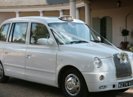 Modern White London Taxi hire